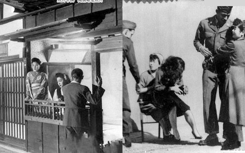 攝影師拍下1950年的日本紅燈區!日本的妓女原來是這樣當街攬嫖客的...竟然連外國人都不放過?!!