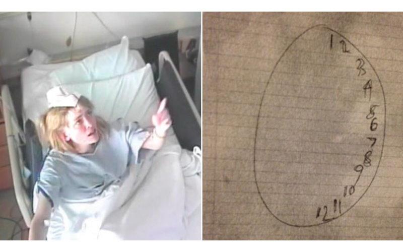 當大家都認為這個「鬼附身」的瘋女子已經無藥可救時,一名醫生突然請她畫出時鐘...  -