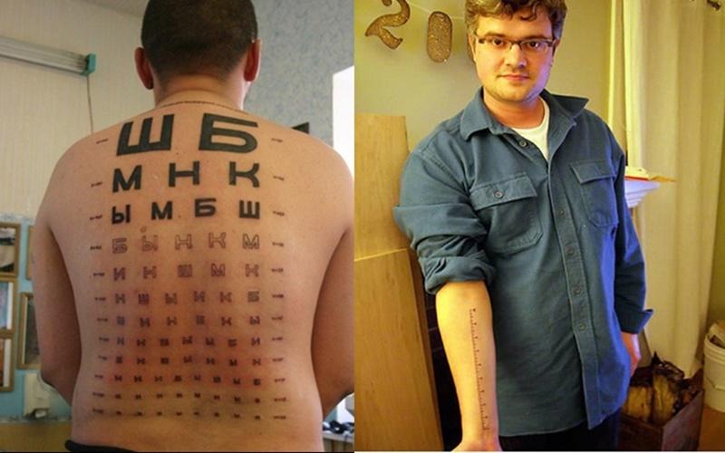 這些人在自己身上留下了「超實用」刺青,第5個太狂了!
