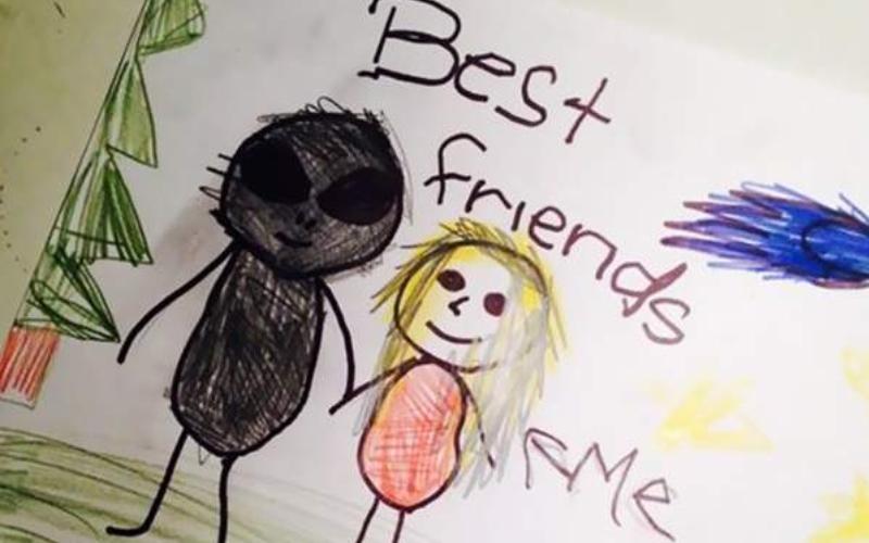 令人毛骨悚然的「小孩詭異畫作」他們身邊可能真的有你看不見的朋友......