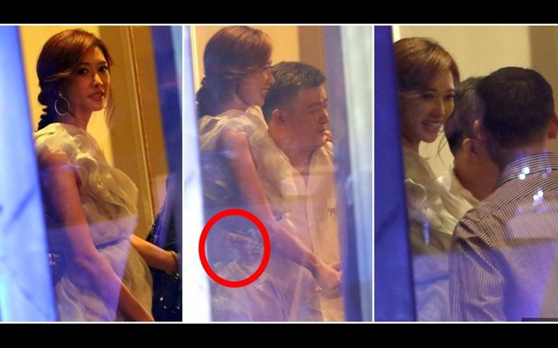 林志玲在上海酒店被偷拍「身旁男子緊貼摟腰揩油」!志玲姐姐居然沒生氣還保持專業微笑...?