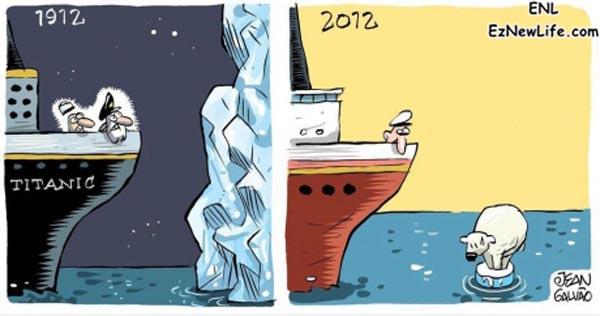 鐵達尼在現代就不會沉了。-0