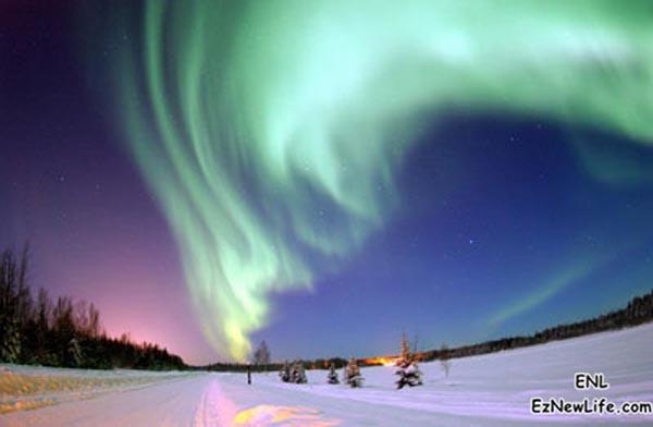 北極光。-0