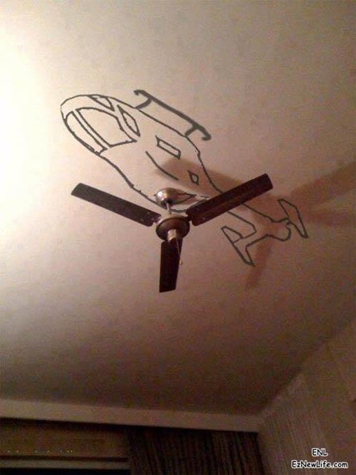 反直升機吊扇。-0
