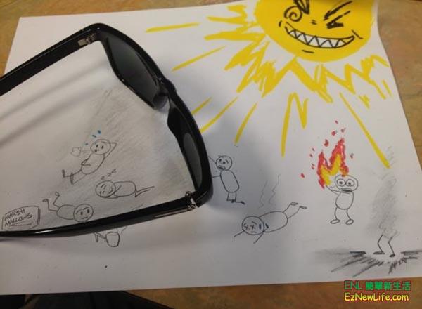 太陽眼鏡的防護力是很強的!!-0