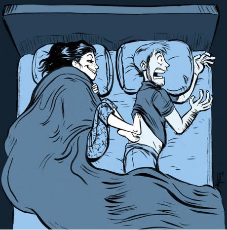據說有85%的老公,在半夜會被老婆做這種事情!!-0