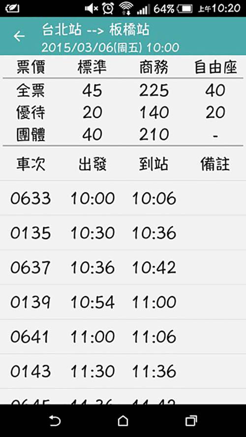 火速更新資訊!!android版台灣高鐵一秒速查時刻表APP!!-1