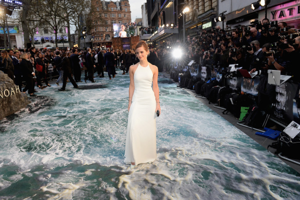 LONDON, ENGLAND - MARCH 31:  Actress Emma Watson attends the UK Premiere of